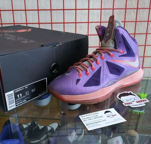 NIKE LEBRON X ALL STAR AREA 72 SIZE 11 US MEN SHOES EXCELLENT USED CONDITION WITH OG BOX $225 for Sale in Cleveland, OH