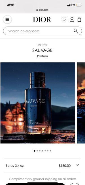 Dior sauvage 3.4 oz for Sale in Fresno, CA