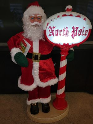 Animated Santa with lighted sign for Sale in Glendora, CA