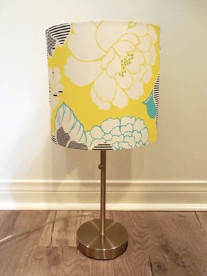 Target yellow floral table lamp silver base for Sale in Los Angeles, CA