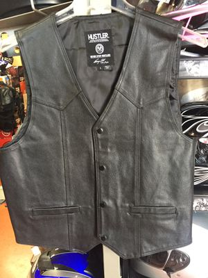 New black leather motorcycle vest $80 for Sale in Norwalk, CA