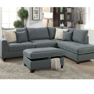 Steel Grey Sofa Sectional Couch No Credit Check No Credit Needed Apply Today