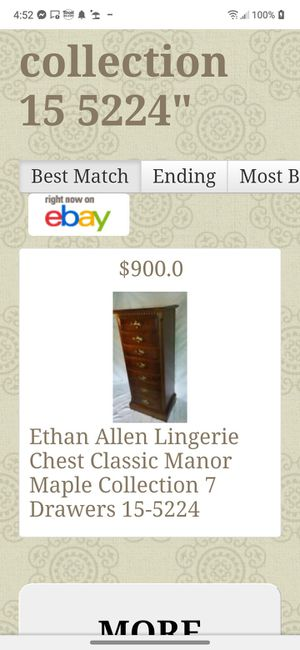 1970 ETHAN ALLEN MAPLE COLLECTION LINGERIE CHEST for Sale in Palm Bay, FL
