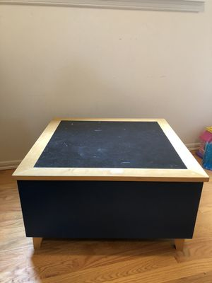 Wooden Kid table/toy storage bin for Sale in Bothell, WA