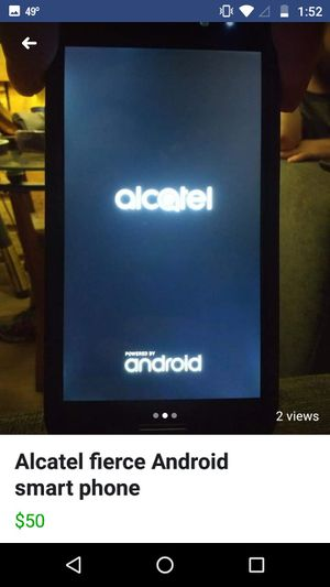 Alcatel fierce Android smart phone. Great condition for Sale in Geneseo, KS