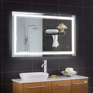 Keonjinn 40 x 24 Inch Bathroom LED Vanity Mirror Anti-Fog Dimmable Large Wall Makeup Mirror with Light (Horizontal/Vertical) for Sale in Henderson, NV