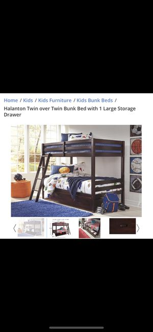 Twin bunk beds with large storage drawer for Sale in Norco, CA