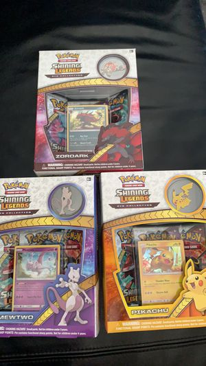 Shining Legends Pikachu/Mewtwo Pin Collections for Sale in Garden Grove, CA