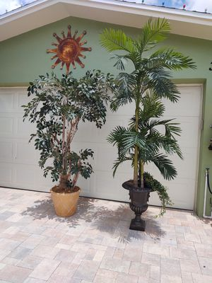 Large 7 and 8ft artificial trees your choice $99 each for Sale in Clearwater, FL