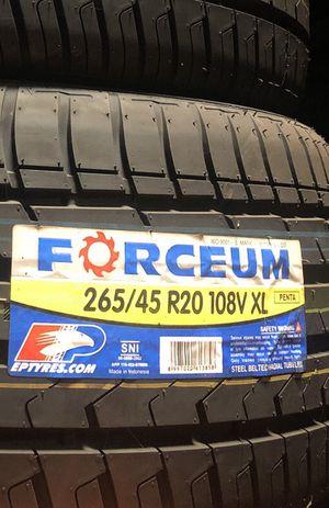265/45/R20 108V XL Forceum Penta for Sale in Los Angeles, CA