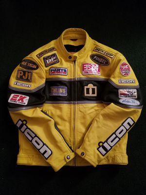 Icon Neo Daytona Men's Leather Motorcycle Racing Biker Jacket Size:46 for Sale in Glenolden, PA