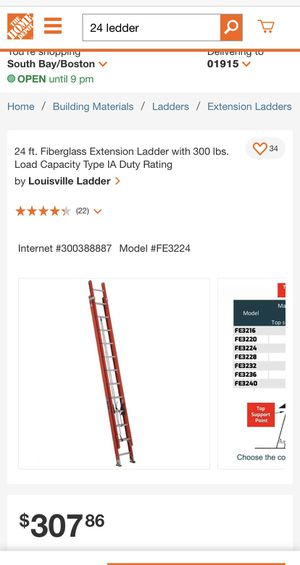 3 new ladder 1 / 28 and 2 / 24 for Sale in Beverly, MA