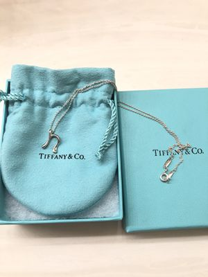 """Tiffany and Co Elsa Peretti® Letter """"N"""" Pendant Necklace for Sale in San Jose, CA"""