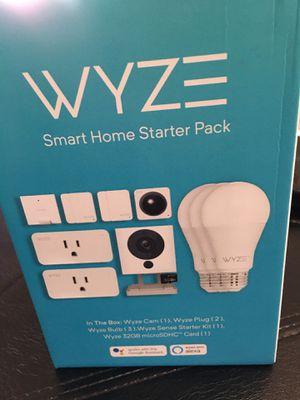 Wyze Smart Home Starter Bundle Includes Camera, Contact Sensor (2), Motion Sensor, Bulb (3), Plug (2), SD Card for Sale in Menifee, CA