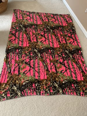 Hot pink Camouflage Blanket for Sale in Waterford Township, MI