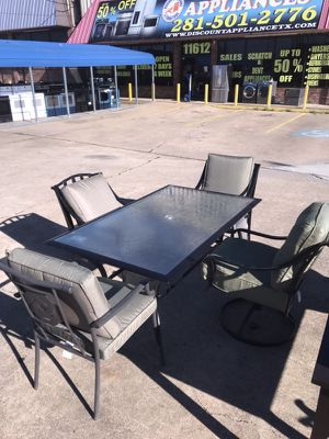 Patio furniture set with 4 chairs. Only $50 down! NO interest! for Sale in Houston, TX