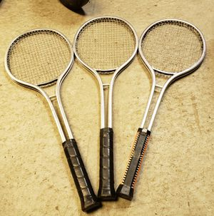 3 vintage aluminum tennis rackets t-2100 for Sale in Chicago, IL