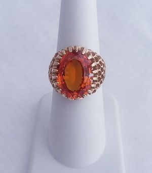 Amazing color 12 carat citrine ring 10k yellow gold retail price $1200 my price only $399! Local pickup or I SHIP through OfferUp for Sale in Comstock Park, MI