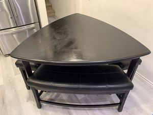 Wood dinning table with benches for Sale in Anaheim, CA
