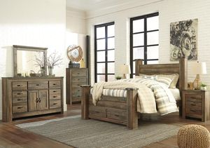 Trinell Brown Poster Storage Bedrooooom Set With Fireplace Option for Sale in Arlington, VA