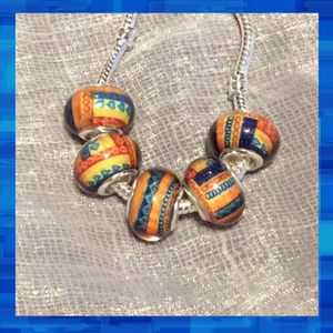 New 5pc: Rasta glass beads diy charms for Sale in Las Vegas, NV