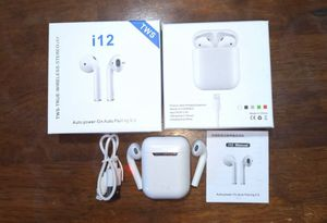 i12 TWS Bluetooth headset Wireless stereo earbuds for Sale in Miramar, FL
