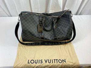 Authentic Louis Vuitton Bandouliere Keepall 55 Damier Graphite Duffle Travel Bag for Sale in Schaumburg, IL