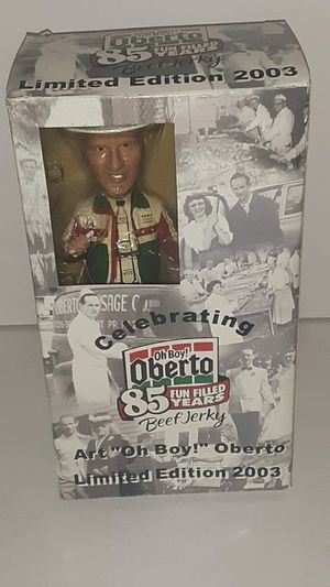 Limited Edition Art Oh Boy Oberto Jerkey Figure 2003 new open box for Sale in Cashmere, WA