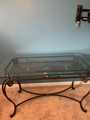 Irony Table w/glass top for Sale in Newburgh, IN