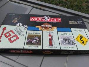 Harley Davidson Monopoly board game for Sale in Burlington, NJ