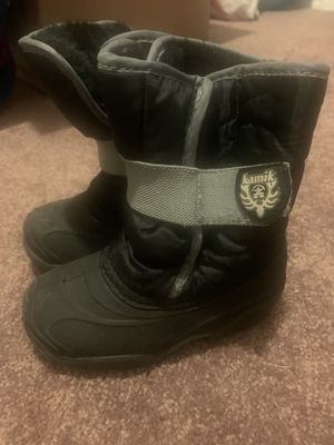 Kamik Waterbud Rain Snow Boots Kids Size 8 black for Sale in Antioch, CA