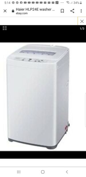 Portable washing machine Haier. Working excellent. For6 kg closes. Never had problems for Sale in Everett, WA