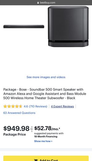 Bose Soundbar and Subwoofer Speaker Theater TV for Sale in Federal Way, WA