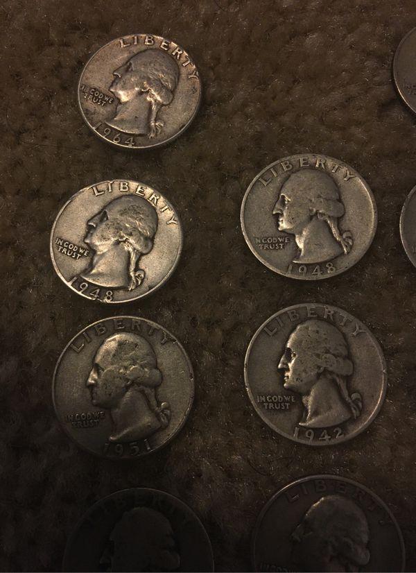 90% pure silver pre-1965 Washington quarters