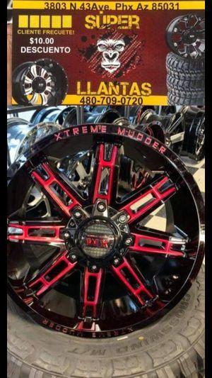 20x9Rines y Llantas for Sale in Phoenix, AZ