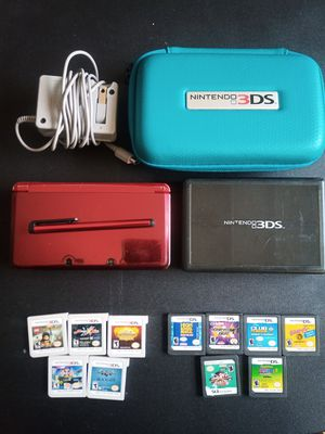 Red Nintendo 3DS w/ 11 Games + Extras for Sale in Tampa, FL