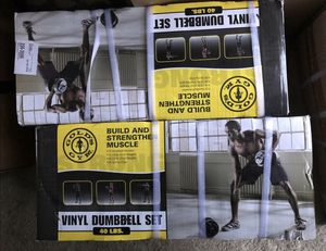 NEW Gold's Gym Vinyl Dumbbell Set, 40 lbs for Sale in Springfield, VA