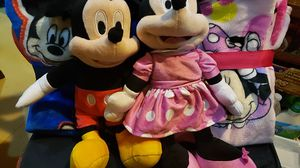 Disney mickey and minnie blankets and toys for Sale in Irwindale, CA