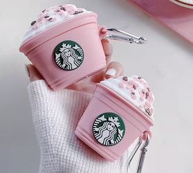 AirPods Case - Soft Silicone - Cute Pink Starbucks Case- Pro/1/2 for Sale in Schaumburg,  IL