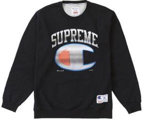 Supreme®/Champion® Chrome Crewneck Dark Teal Size Medium for Sale in Miami, FL