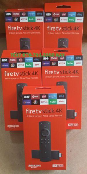 New edition Unlocked Amazon 4K HDR Fire TV Stick w/ Voice & Volume Remote for Sale in Atlanta, GA