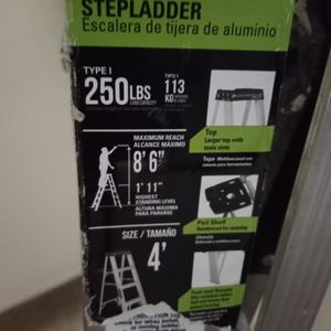 4 Ft. Aluminum Ladder Brand New....250lbs ... for Sale in Sayreville, NJ