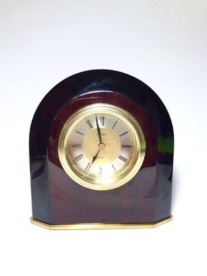 Vintage Linden Wooden Clock with Alarm Function for Sale in Chicago, IL