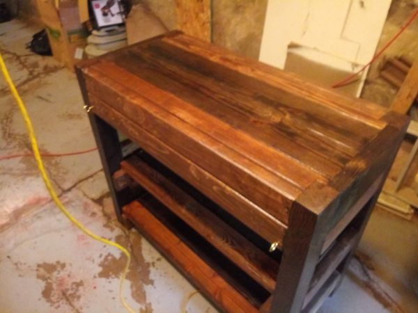 Hand made Rustic Chocolate Kitchen Island