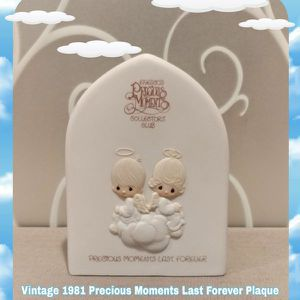VINTAGE 1981 PRECIOUS MOMENTS LASTS FOREVER PLAQUE for Sale in Ontario, CA