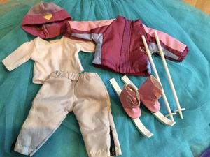 American Girl Doll ski outfit - 10 piece for Sale in Portland, OR