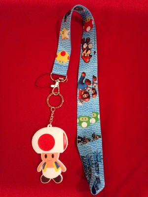 Mario lanyard with Toad keychain for Sale in Montebello, CA