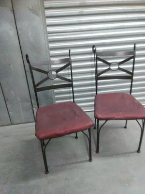 Wrought iron chairs DIY upholstery sturdy strong for Sale in Takoma Park, MD