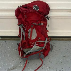 Osprey 60 Aether Backpack Hiking for Sale in Riverside, CA