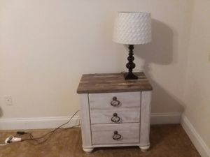 Night stand ashley furniture there's a set dresser twin mattress boxspring300 or 75 by itself for Sale in Cleveland, TN